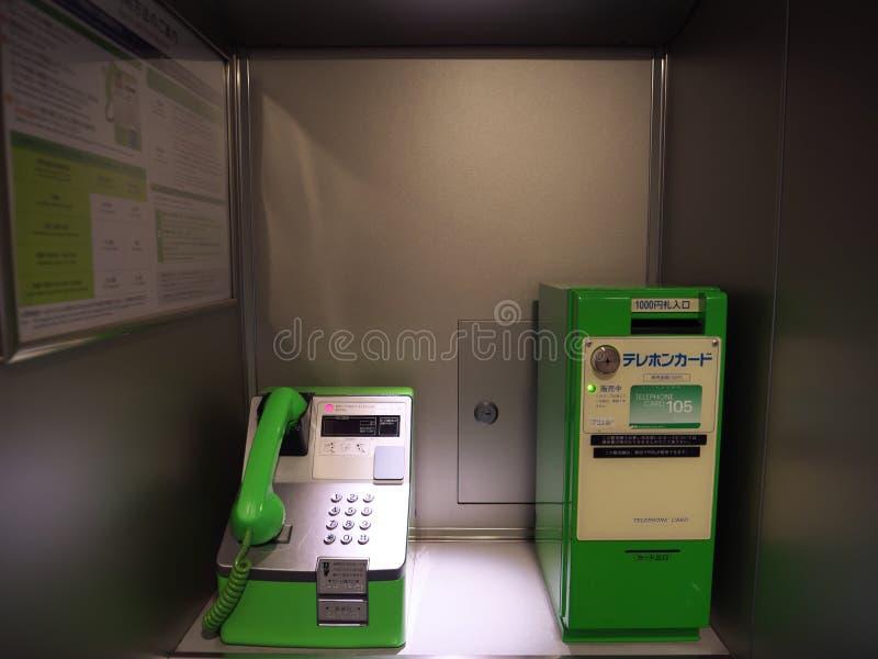 Jawny telefon w pociągu obraz stock