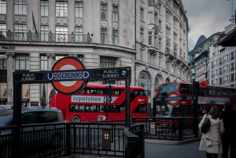 Jawny transport Londyn zdjęcie stock