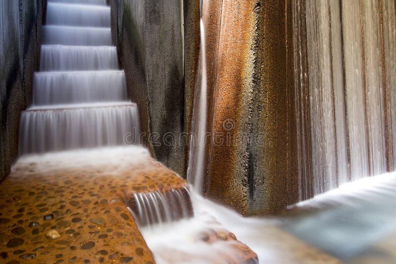 Jawnych parków Wodnej fontanny zbliżenie zdjęcia royalty free