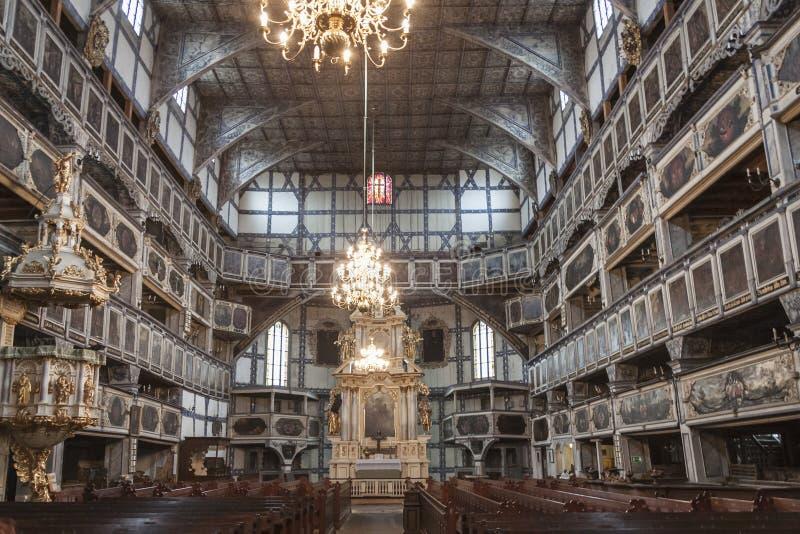 JAWOR, ΠΟΛΩΝΊΑ - 20 ΑΠΡΙΛΊΟΥ: Εσωτερικό του εβαγγελικός-Άουγκσμπουργκ Confe στοκ εικόνες