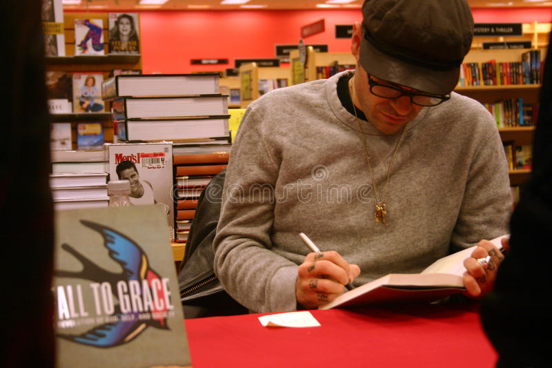 Jay Bakker signs copies of 'Fall to Grace' stock photos