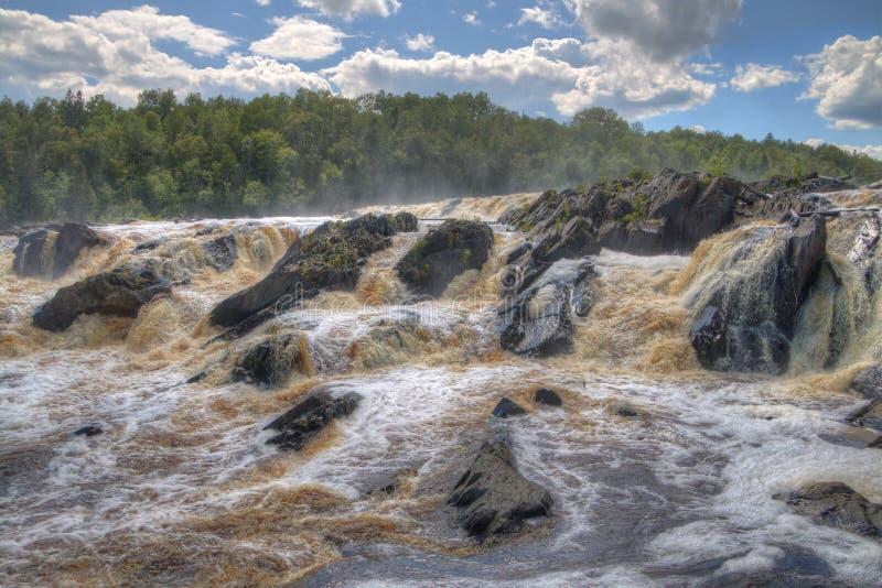 Jay Cooke State Park está en el St Louis River al sur de Duluth en Minnesota imágenes de archivo libres de regalías
