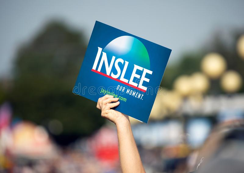 Jay Inslee For President Sign stock photo
