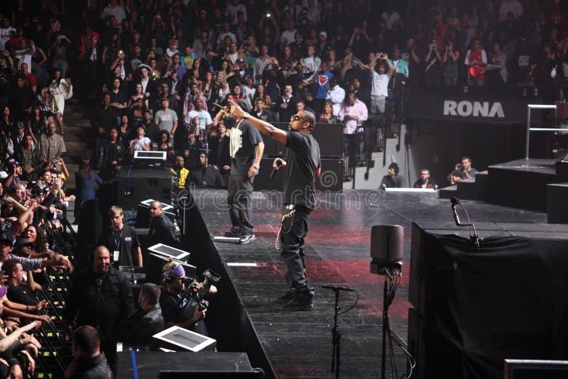 Jay-z di concerto immagini stock libere da diritti