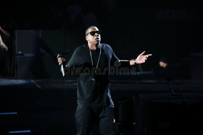 Jay-z im Konzert lizenzfreie stockfotos