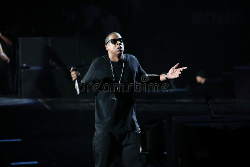 Jay-z no concerto fotos de stock royalty free