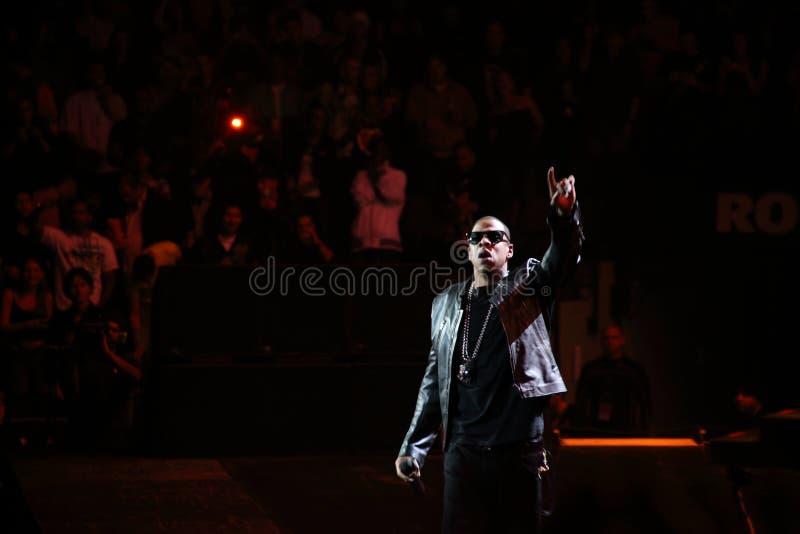 Jay-z no concerto imagens de stock royalty free