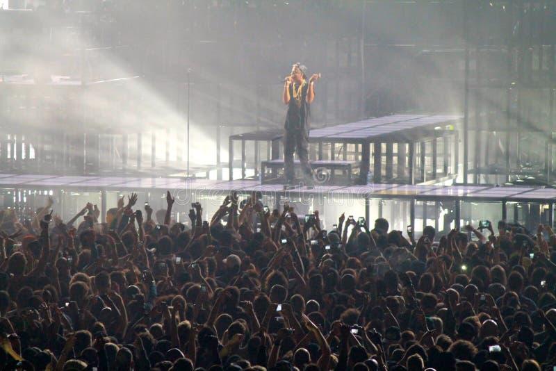 Jay-z Superstar US rap artist on stage stock photography