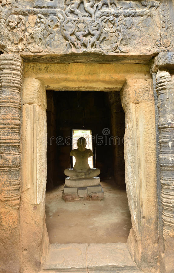 Free Jayavarman VII Staute In Phimai Stone Castle Stock Images - 20698604