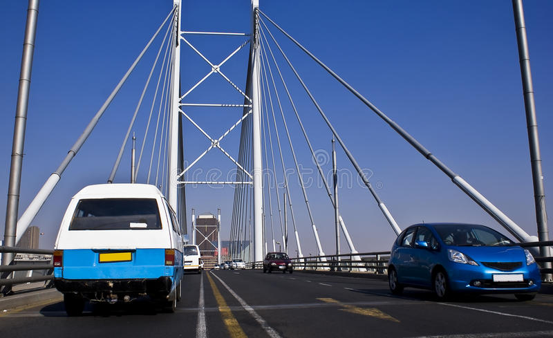 Download Jaywalking Across Nelson Mandela Bridge Stock Image - Image: 10337625