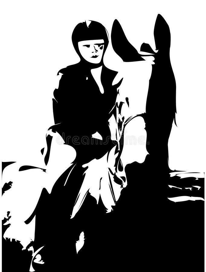 jazda konno ilustracja wektor