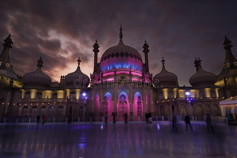 Jazda Na Łyżwach lodowisko przy Królewskim pawilonem, Brighton zdjęcia stock