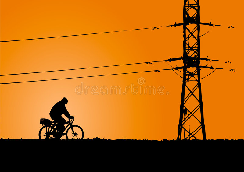 jazda na rowerze ilustracja wektor