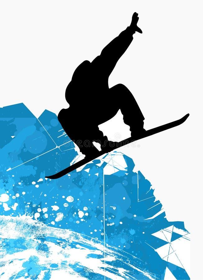 jazda na snowboardzie ilustracji