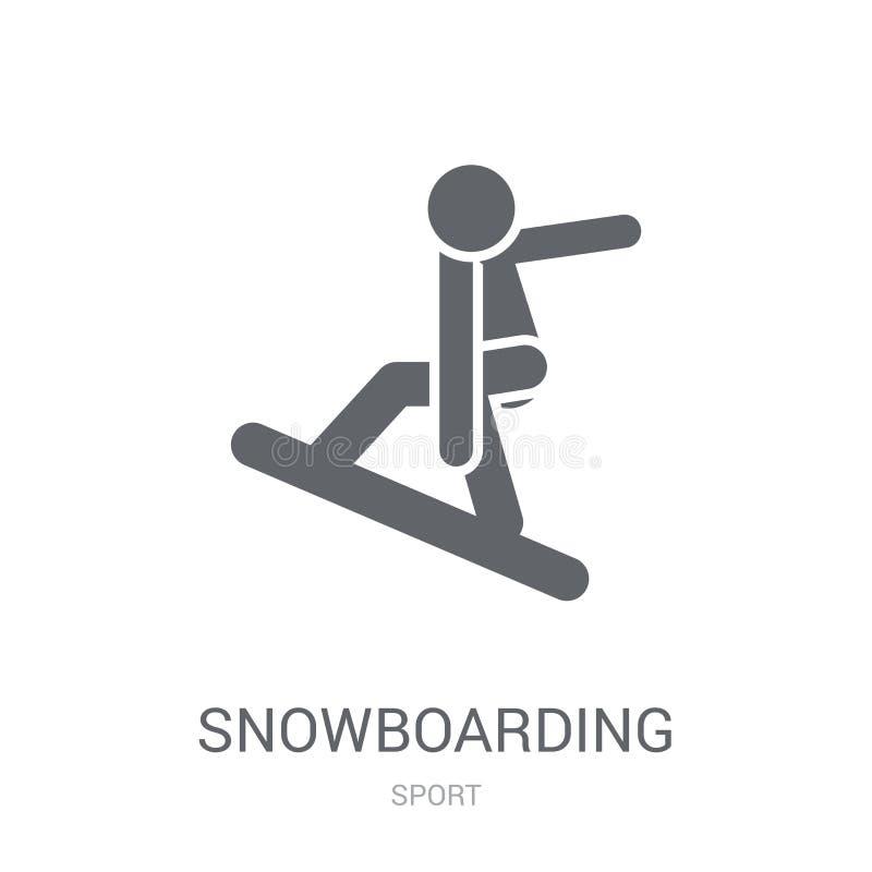 Jazda na snowboardzie ikona  royalty ilustracja