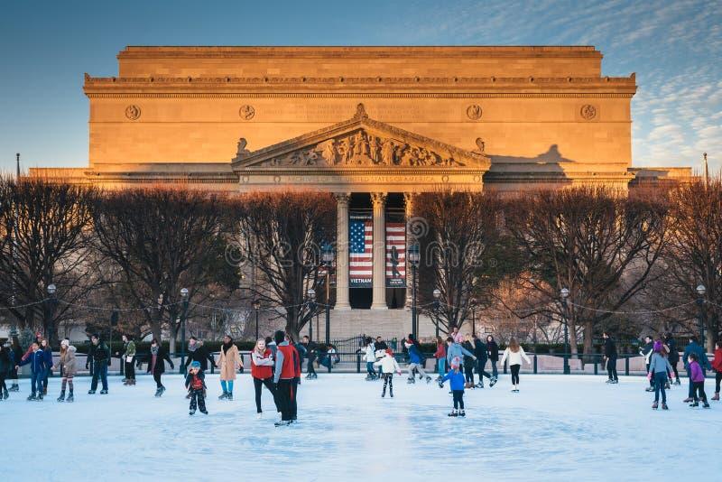 Jazdy na łyżwach lodowisko i archiwa w Waszyngton, DC obrazy stock