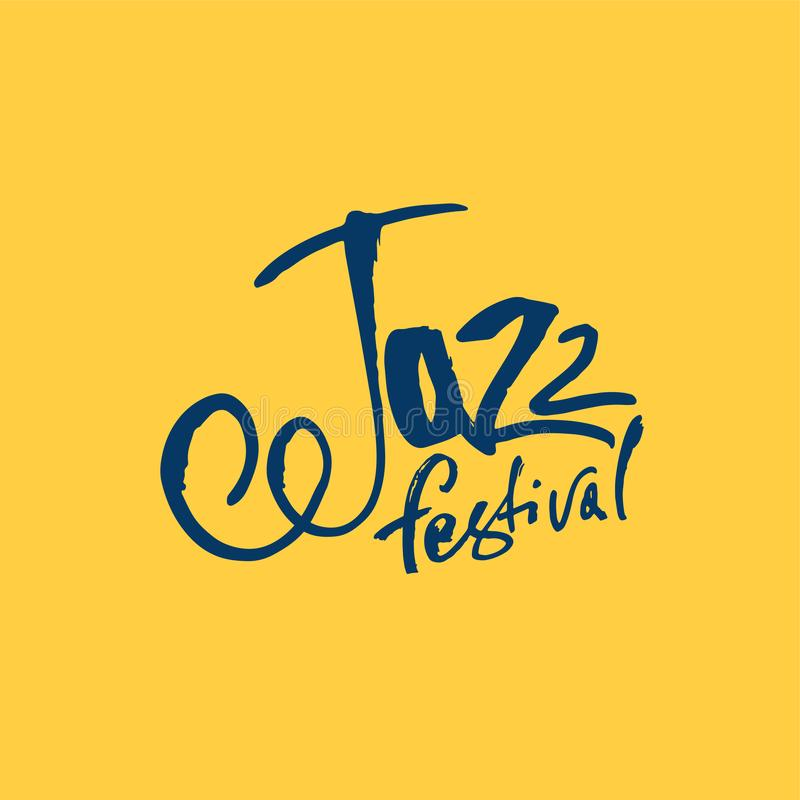 Jazz Εγγραφή μανδρών βουρτσών Διανυσματική επιγραφή μελανιού Σύγχρονο ύφος καλλιγραφίας Αφίσα μουσικής Τελειοποιήστε για τα γεγον ελεύθερη απεικόνιση δικαιώματος