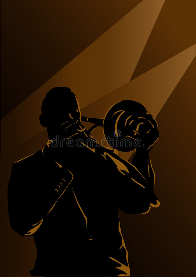 jazz royaltyfri illustrationer