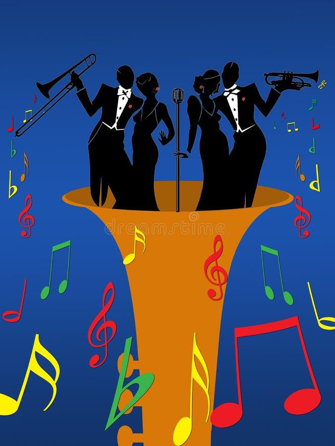 Jazz illustration libre de droits
