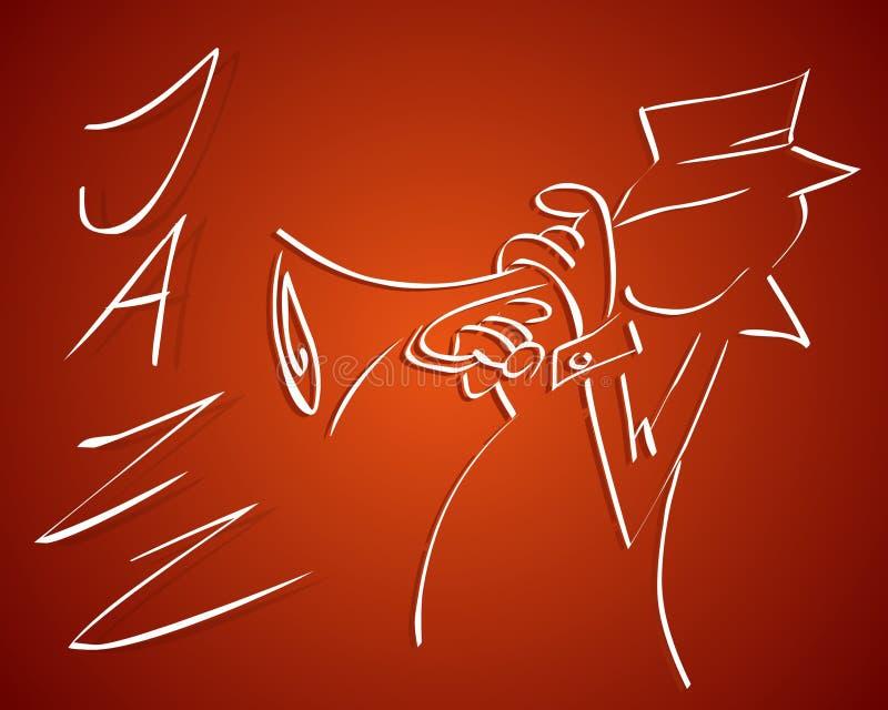 Jazz ilustração do vetor
