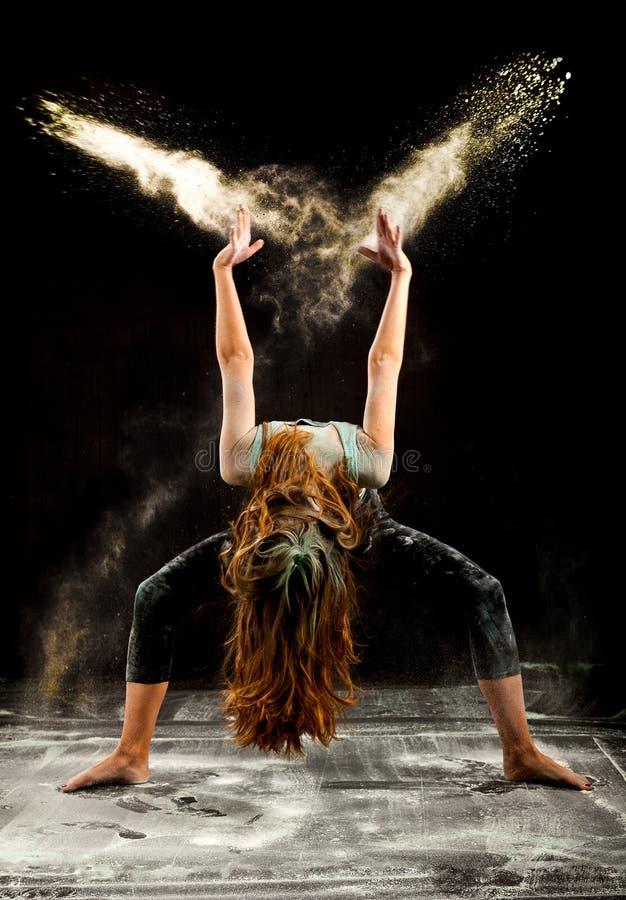 Jazz ballet dance flour stock photos
