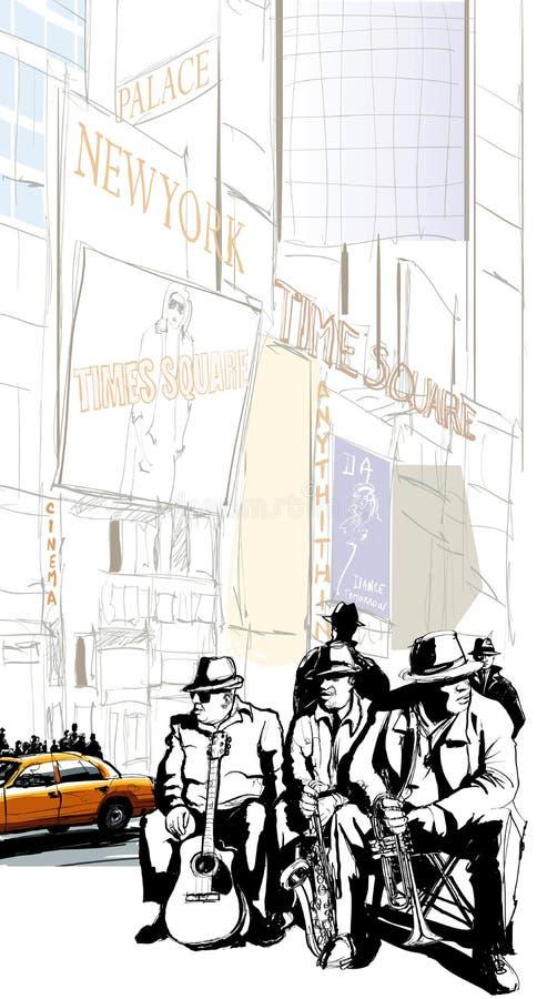 Jazz-band à New York illustration libre de droits