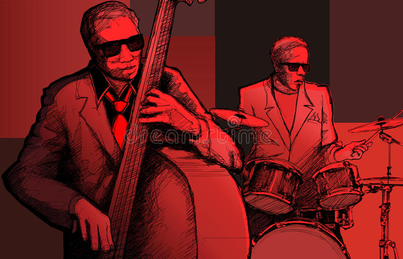 Jazz band vector illustration