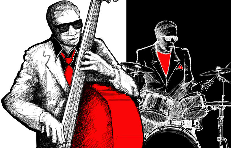 Download Jazz band stock vector. Illustration of drummer, jazz - 23667604