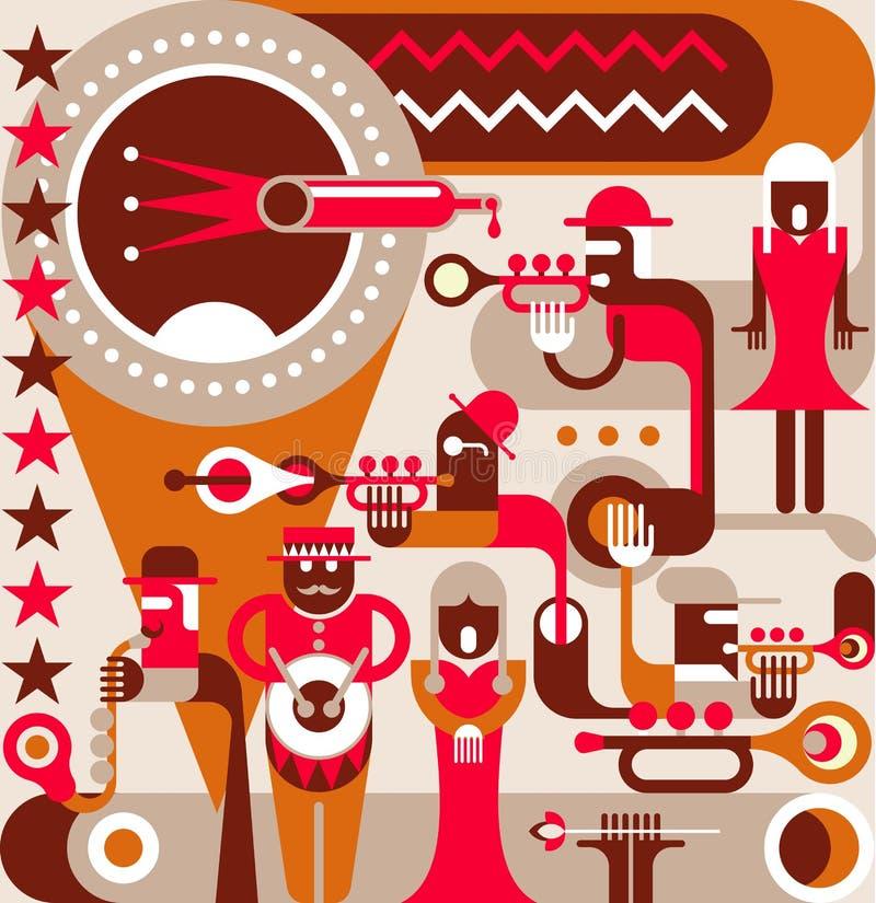 The Jazz Band royalty free illustration