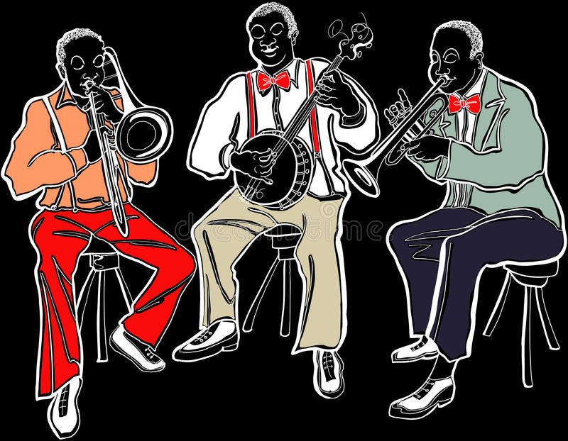 Download Jazz band stock vector. Image of horn, tone, musician - 25502726