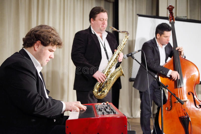 Download Jazz band performs editorial stock photo. Image of artist - 28153563