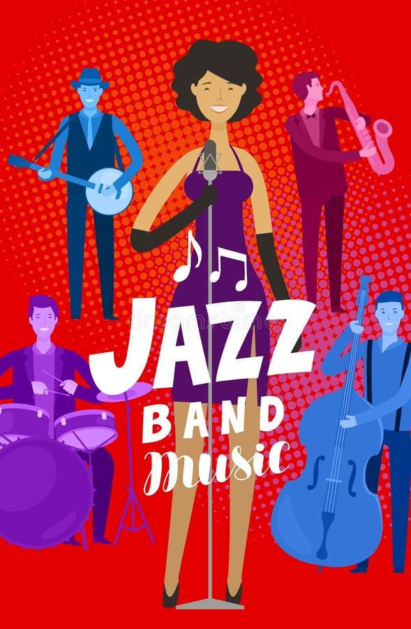 Jazz band poster. Musical festival, live music concept. Vector illustration vector illustration