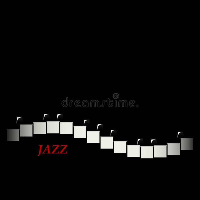 Jazz cafe concept. Abstract piano keyboard. Musical creative invitation. vector illustration
