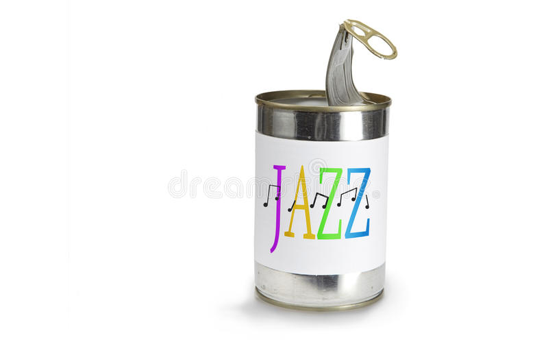 Download Jazz on a can stock photo. Image of aluminum, canister - 12901888