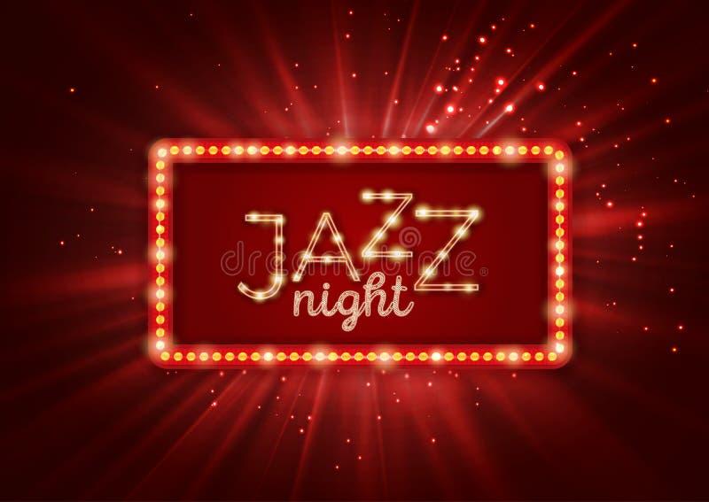 Jazz, cartel de la música de los azules, plantilla del aviador libre illustration