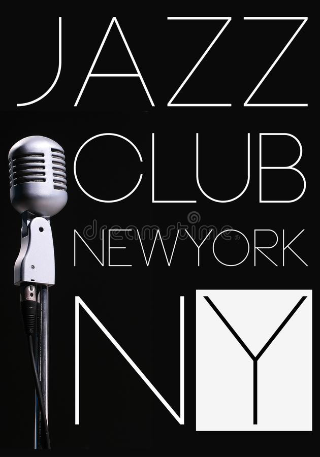 Jazz Club photo print poster design royalty free illustration