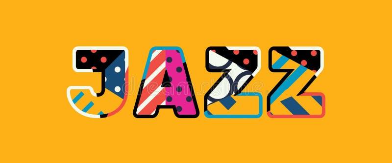 Jazz Concept Word Art Illustration vektor illustrationer