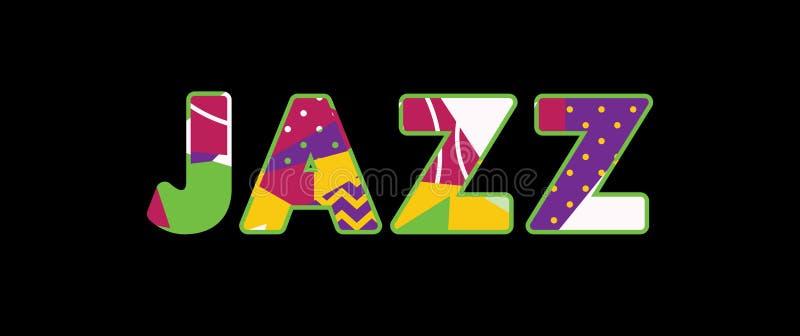 Jazz Concept Word Art Illustration stock illustrationer