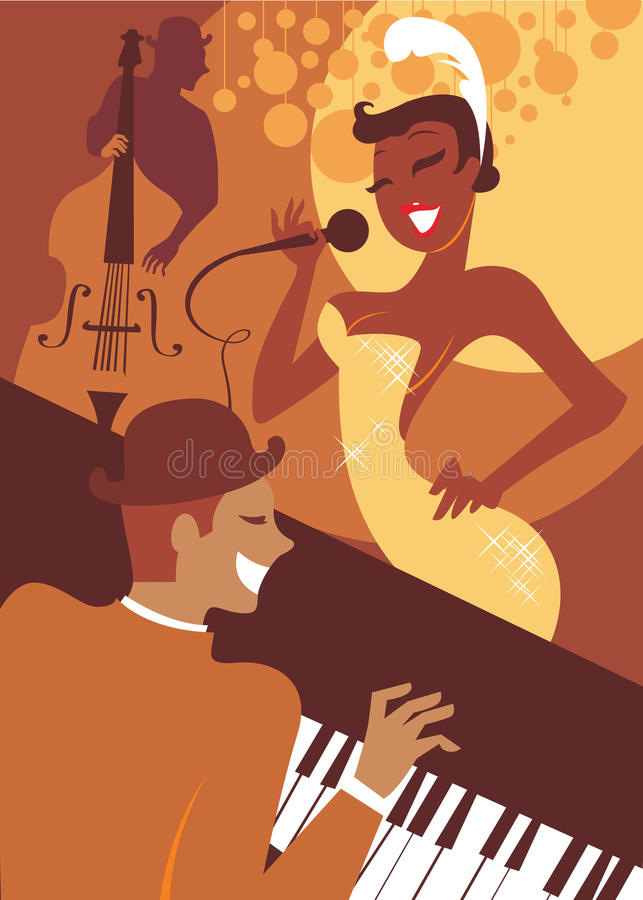 Jazz concert stock illustration