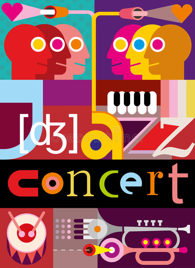 Jazz Concert royalty illustrazione gratis
