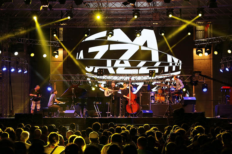Jazz Concert royaltyfri fotografi