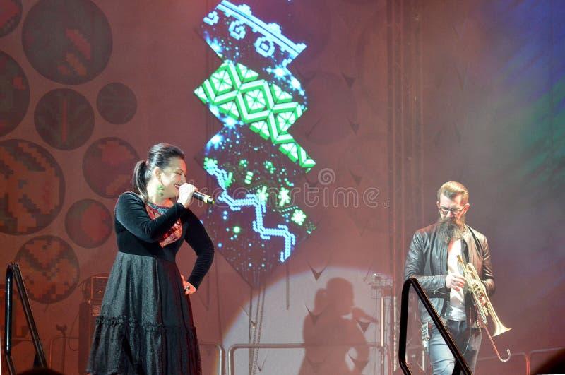 Jazz Concert au festival du vin de Moldau, Chisinau image stock