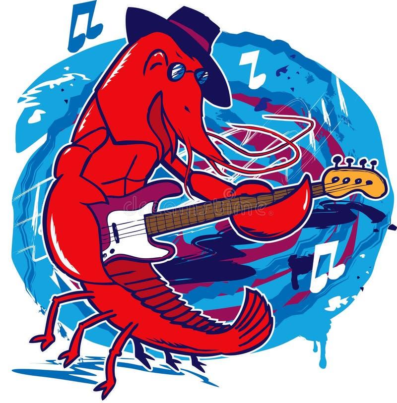 Jazz Crawfish ilustração stock