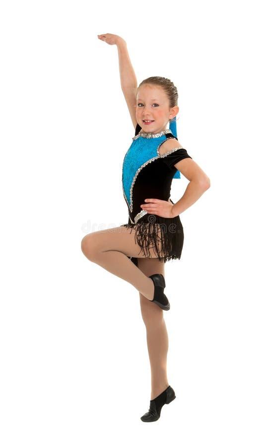 Jazz Dancing Girl Mid Step stock photo