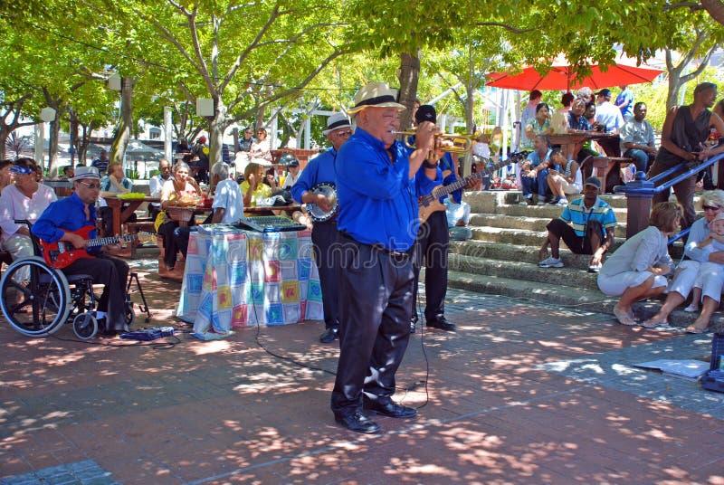 Jazz de la calle, Ciudad del Cabo, Suráfrica imagen de archivo libre de regalías