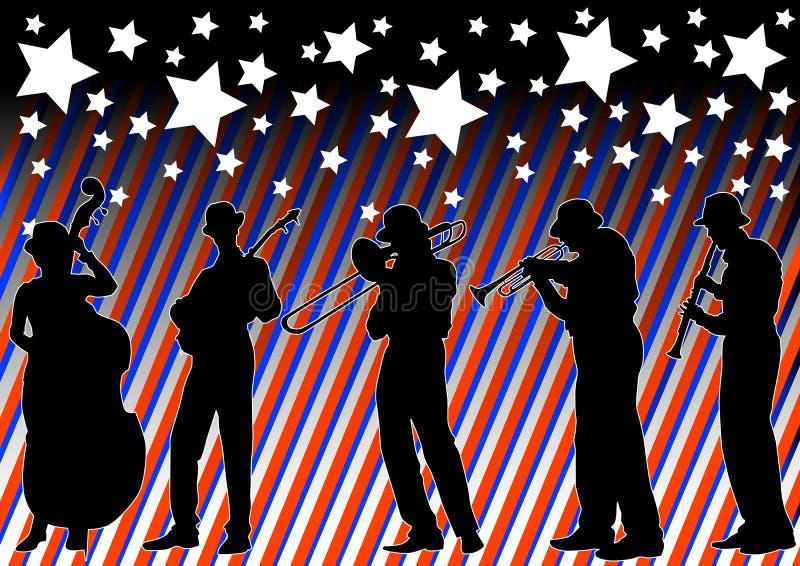 Jazz del día de fiesta stock de ilustración