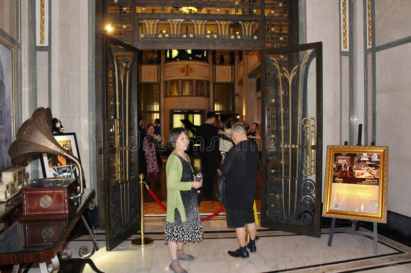 Jazz del tè di domenica al jazz dell'hotel di pace in Shanghaii fotografie stock