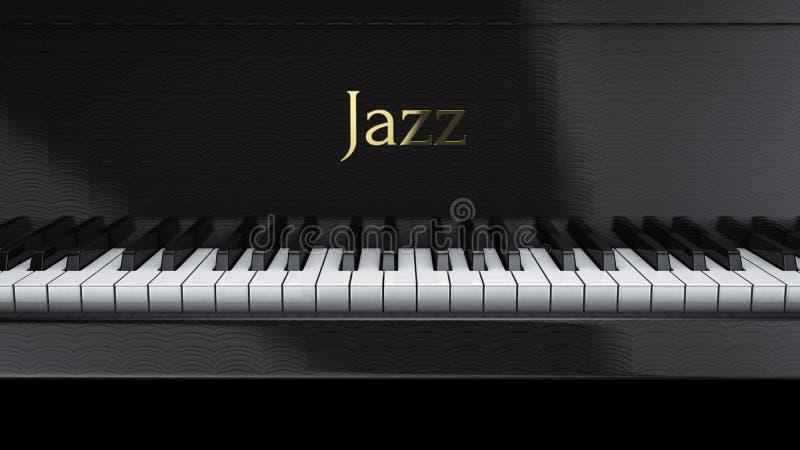 Jazz do piano ilustração stock
