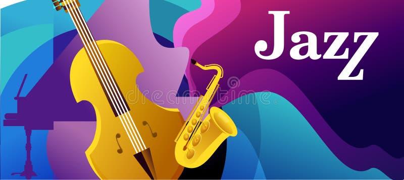 Jazz e azuis ilustração stock
