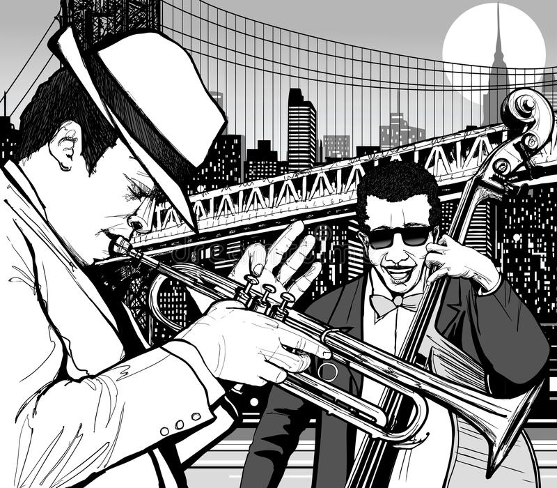 Jazz en Nueva York libre illustration